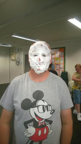 custard pie face